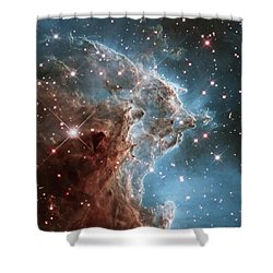 Shower Curtain featuring the photograph Monkey Head Nebula by Marco Oliveira