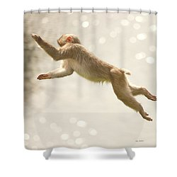 Monkey Jump Shower Curtain by Roy  McPeak