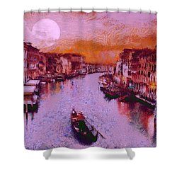 Monkey Painted Italy Again Shower Curtain