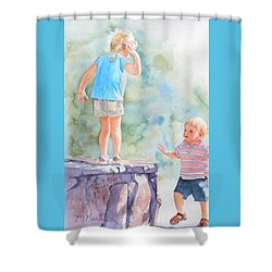 Monkey See Shower Curtain