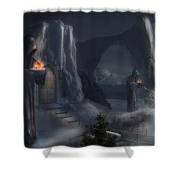Monks Mountain Shower Curtain
