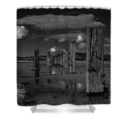 Mono Groynes 2 Shower Curtain