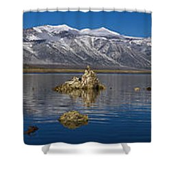 Mono Lake Pano Shower Curtain by Wes and Dotty Weber