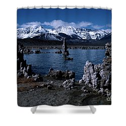 Mono Lake-signed Shower Curtain