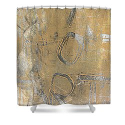 Shower Curtain featuring the drawing Mono Print 003 - I Am Not Art by Mudiama Kammoh