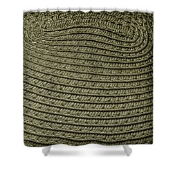 Monochromatic Pattern In Straw Shower Curtain