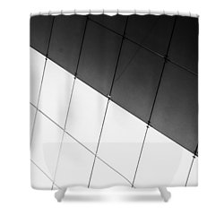Monochrome Building Abstract 3 Shower Curtain