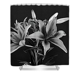 Monochrome Grace Shower Curtain