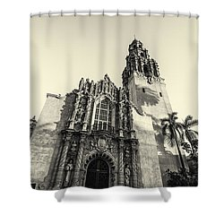 Monochrome Museum Shower Curtain