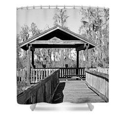 Monochrome Osprey Overlook Shelter Shower Curtain