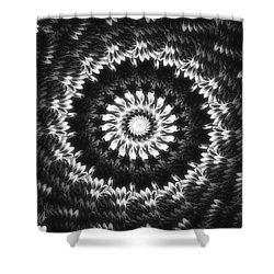 Monochrome Petals Mandala Shower Curtain by Mimulux patricia no No