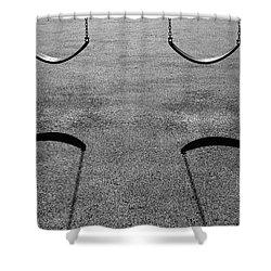 Monochrome Swings Shower Curtain
