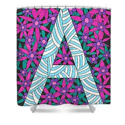 Monogram A Shower Curtain