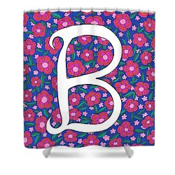 Monogram B Shower Curtain
