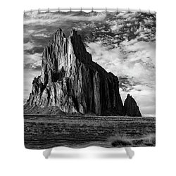 Monolith On The Plateau Shower Curtain by Jon Glaser