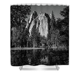 Monolith Shower Curtain by Ryan Weddle