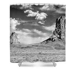 Shower Curtain featuring the photograph Monoliths by Jon Glaser
