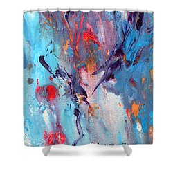 Monoprint Abstract Shower Curtain by M Diane Bonaparte