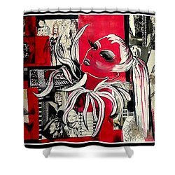 Monroe And Bardot Collage Shower Curtain