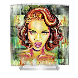 Monroe Gone Bad Shower Curtain