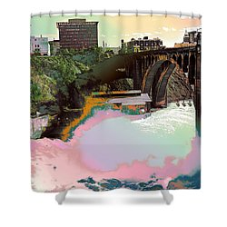 Grunge Monroe Street Plant  Shower Curtain