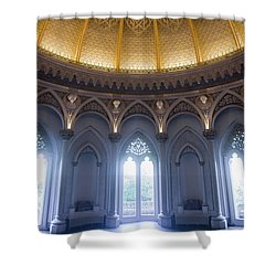 Shower Curtain featuring the photograph Monserrate Palace Room by Carlos Caetano