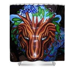 Monsieur De Lioncourt Shower Curtain by Genevieve Esson