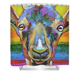 Monsieur Goat Shower Curtain