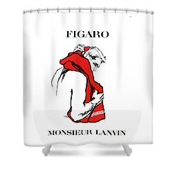 Shower Curtain featuring the digital art Monsieur by Kim Kent