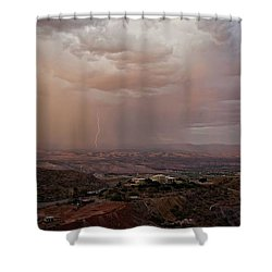Monsoon Lightning And Rainbow Shower Curtain