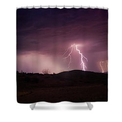 Monsoon Lightning Shower Curtain by Anthony Citro