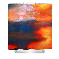 Monsoon Shower Shower Curtain by M Diane Bonaparte
