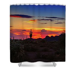 Shower Curtain featuring the photograph Monsoon Sunset by Rick Furmanek
