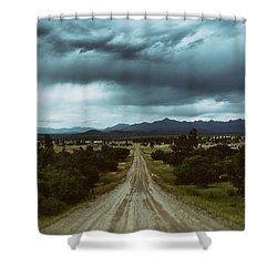 Monsoons From The Meadows Shower Curtain by Jason Coward