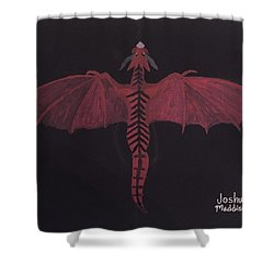 Monsterart Dragonsaurus Shower Curtain by Joshua Maddison