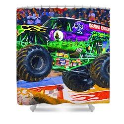 Monster Jam Grave Digger Shower Curtain