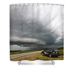Monster Storm Near Yorkton Sk Shower Curtain