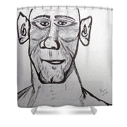 Monster Tom And His Radar Ears Shower Curtain by Robert Margetts