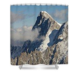 Mont Blanc Du Tacul Shower Curtain