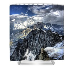 Mont Blanc Near Chamonix In French Alps Shower Curtain