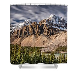 Mont Crowfoot On The Icefield Parkway Shower Curtain