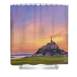 Mont-saint-michel At Dawn Shower Curtain