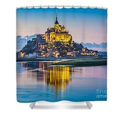 Mont Saint-michel In Twilight Shower Curtain