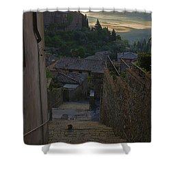Montalcino City Shower Curtain by Yuri Santin
