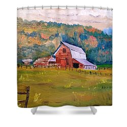 Montana Barn Shower Curtain
