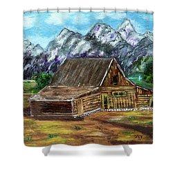 Montana Barn Shower Curtain