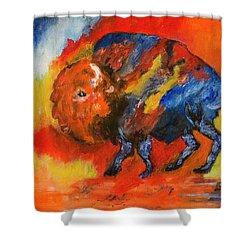 Montana Bison Shower Curtain