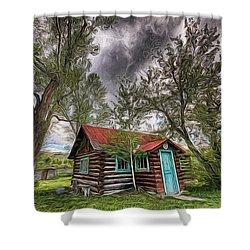 Montana Cabin Shower Curtain