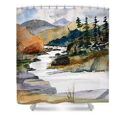 Montana Canyon Shower Curtain