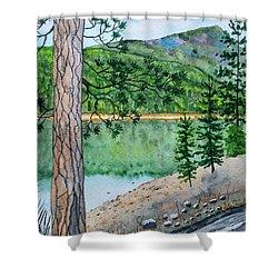 Montana - Lake Como Shower Curtain